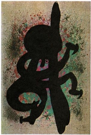 Lithographie Miró - L'esquimo fiévreux / The feverish eskimo