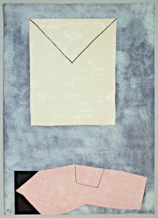 Lithographie Santomaso - Lettera