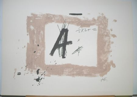 Lithographie Tapies - Lettre  A