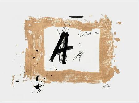 Lithographie Tàpies - Lettre