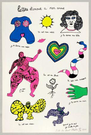 Siebdruck De Saint Phalle - Lettre d'amour à mon amour