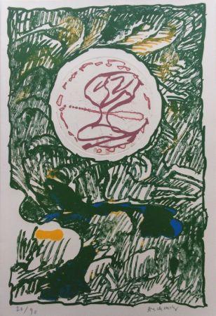 Lithographie Alechinsky - L'Excédante 3