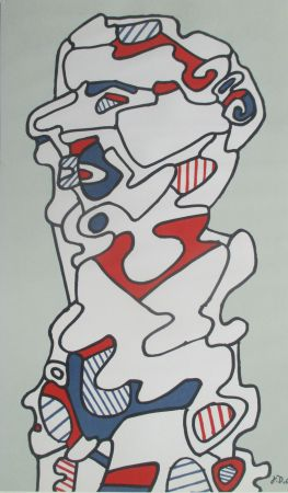 Lithographie Dubuffet - L'Homme