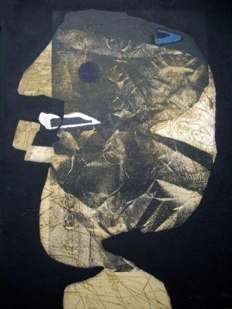 Radierung Und Aquatinta Clavé - L'homme À La Pipe