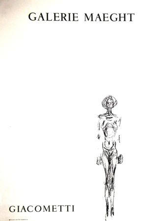 Lithographie Giacometti - L'homme Debout