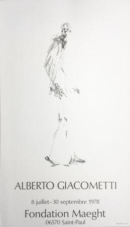Plakat Giacometti - L'HOMME QUI MARCHE. Fondation Maeght du 8 juillet au 30 septembre 1978.