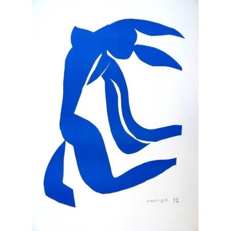 Lithographie Matisse - Liberté Bleu
