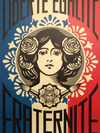 Lithographie Fairey - Liberte