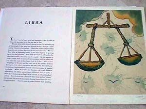 Lithographie Dali - Libra From