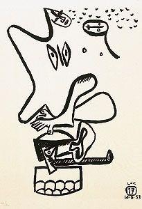 Radierung Le Corbusier - Libro UNITÉ