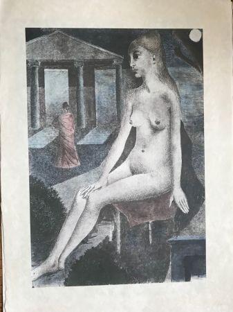 Siebdruck Delvaux - L'Idole