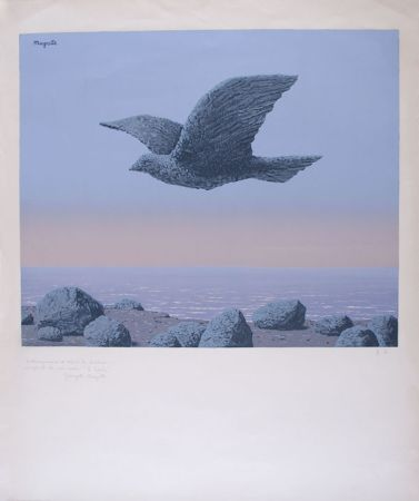 Lithographie Magritte - L'Idole - Rock Bird