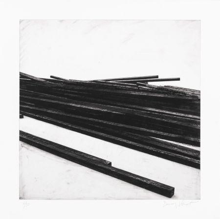 Siebdruck Venet - Lignes droites / désordre 01