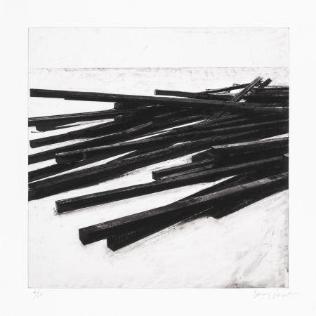 Siebdruck Venet - Lignes droites / désordre 03