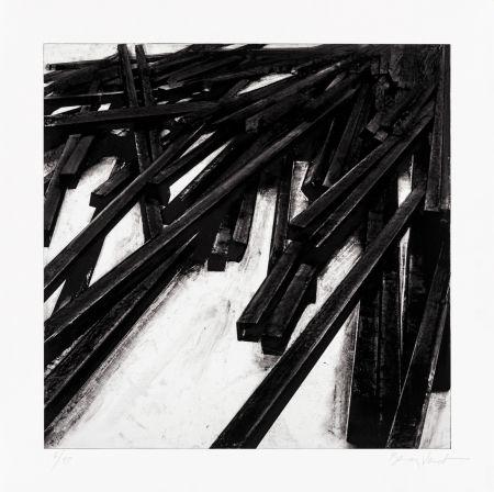 Siebdruck Venet - Lignes droites / désordre 06