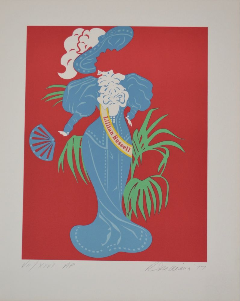 Lithographie Indiana - Lilian Russell - Mother of us all portfolio