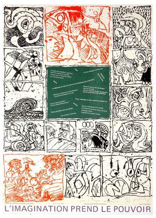 Lithographie Alechinsky - L'imagination prend le pouvoir