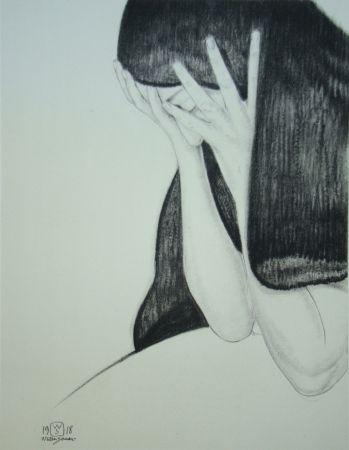 Lithographie Sauer - L'inutile regret