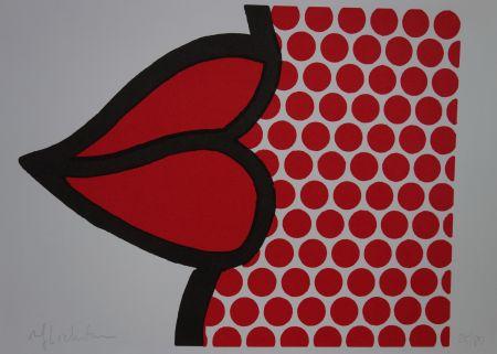 Siebdruck Lichtenstein - Lips