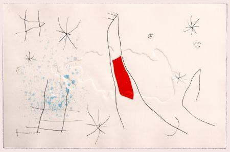 Kaltnadelradierung Miró - L'issue dérobée