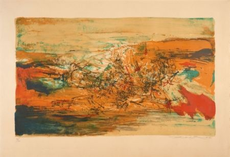 Lithographie Zao - Lithograph, 1973