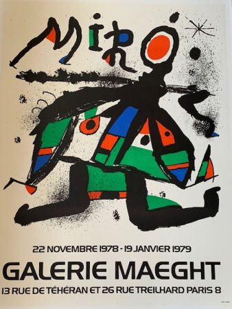 Lithographie Miró - Lithographic poster