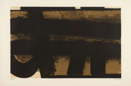 Lithographie Soulages - Lithographie 35 – 1974
