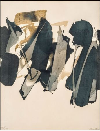 Lithographie Soulages - Lithographie n°14 – 1964