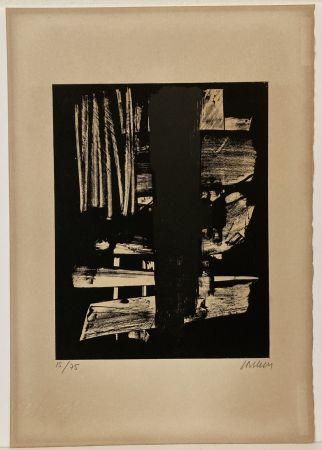 Lithographie Soulages - Lithographie n° 9, 1959. Signée et numérotée.
