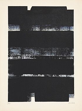 Lithographie Soulages - Lithographie No. 32A