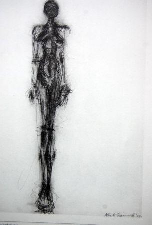 Lithographie Giacometti - Litografia Original Derrier Le Miroir - 1971