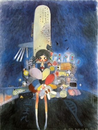Lithographie Takano - Little Stars of City Child