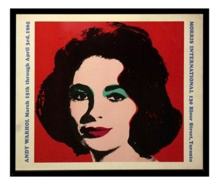 Lithographie Warhol - Liz taylor