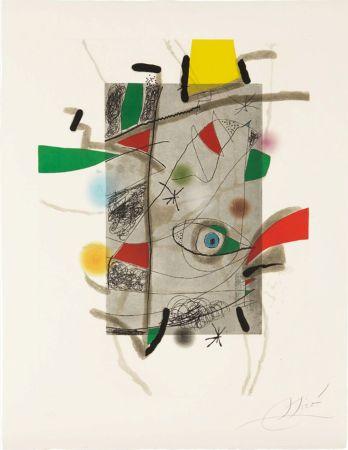 Radierung Und Aquatinta Miró - Llibre dels sis Sentis, III
