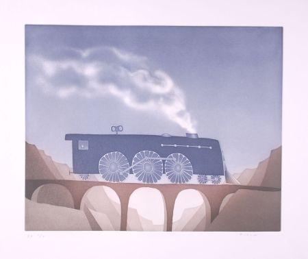 Radierung Und Aquatinta Folon - Locomotive (suite TOYS)