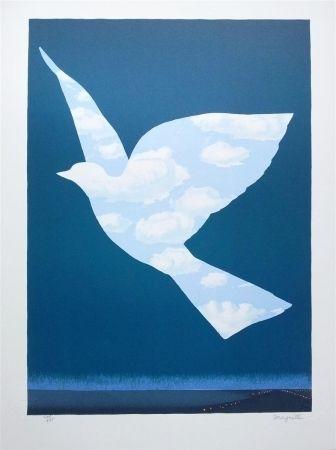 Lithographie Magritte - L'Oiseau de ciel (Sky bird)