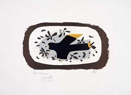 Lithographie Braque - L'oiseau D'octobre