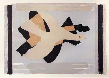 Lithographie Braque - L'oiseau Est Son Nombre