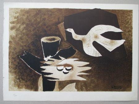 Lithographie Braque - L'Oiseau et son nid