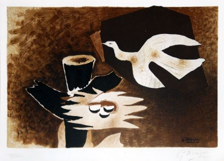 Lithographie Braque - L'oiseau et son nid (The Bird and Its Nest)