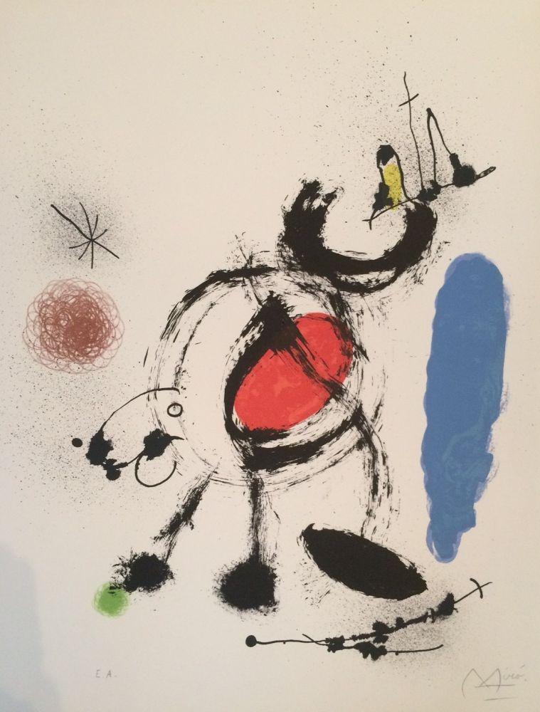 Lithographie Miró - L'oiseau Migrateur