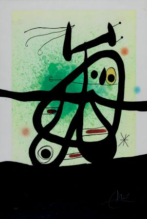 Radierung Und Aquatinta Miró - L'Oiseau Mongol