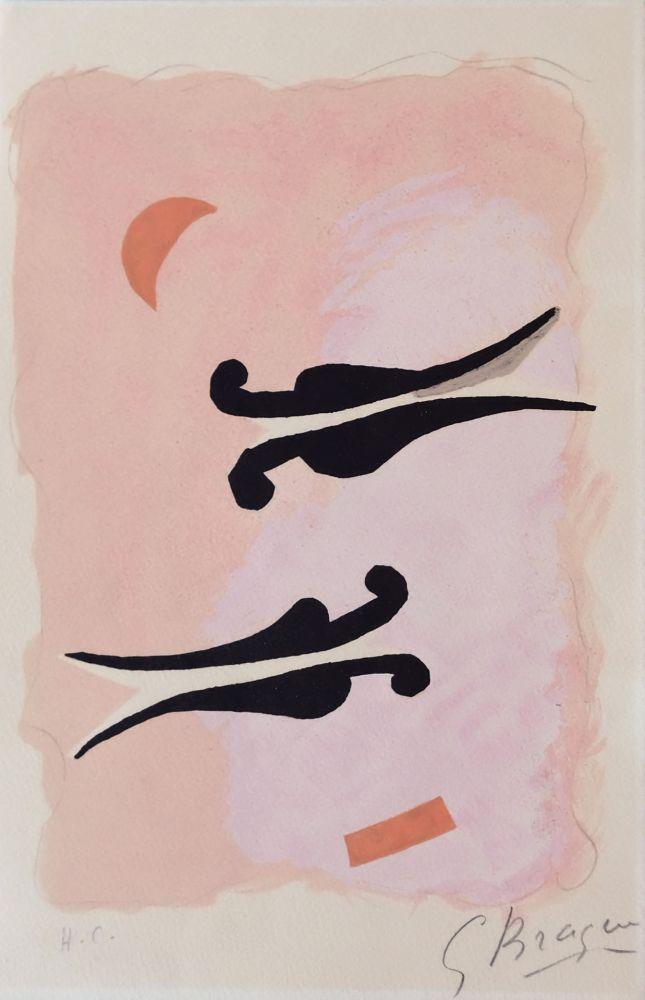 Lithographie Braque - L'oiseaux - La Nuit - La Faim