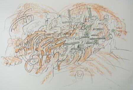 Lithographie Matta - Los engullerán III
