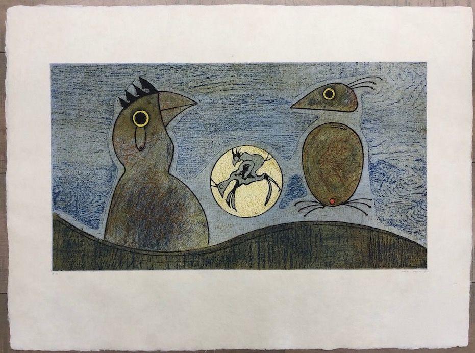 Radierung Ernst - Los Pájaros