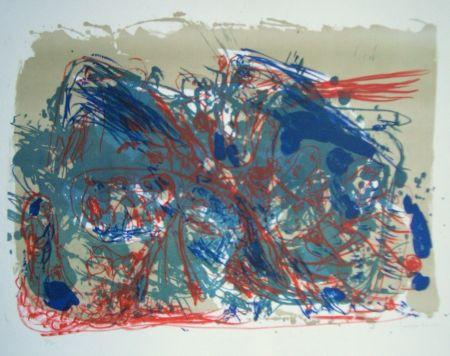 Lithographie Jorn - L'oubli