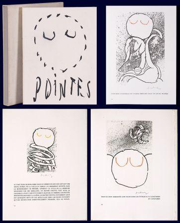 Illustriertes Buch Alechinsky - Louis Scutenaire et Pierre ALechinsky : POINTES (17 gravures monogrammées) 1972.