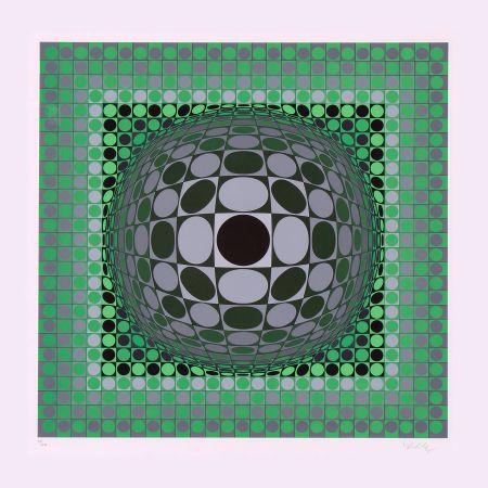 Siebdruck Vasarely - Louisiana II