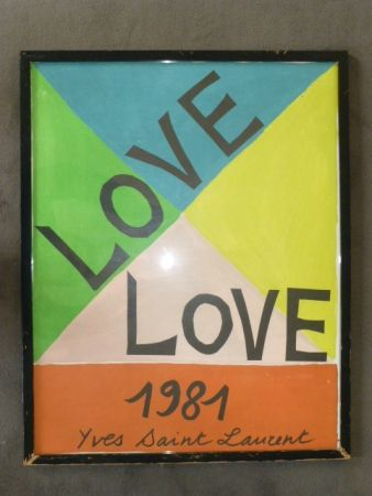 Plakat Saint Laurent - Love 1981