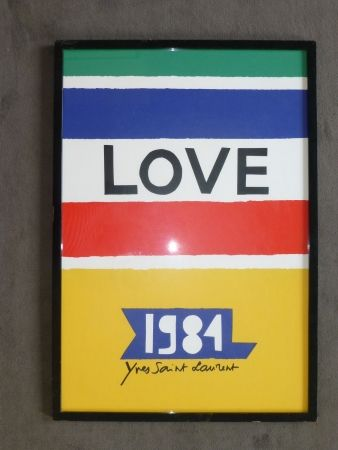 Plakat Saint Laurent - Love 1984